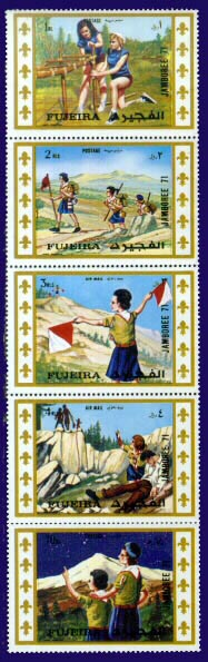 Fujiera Scout stamps