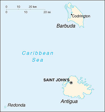 map of Barbuda