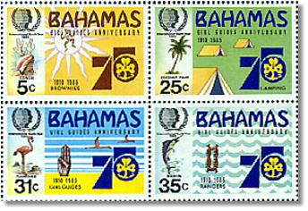 1985 stamps from the Bahamas image
