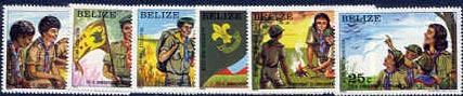 Belize 75 anniversary stamps