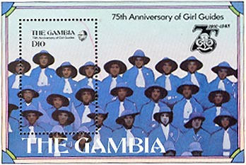 Gambia Girl Guide stamps