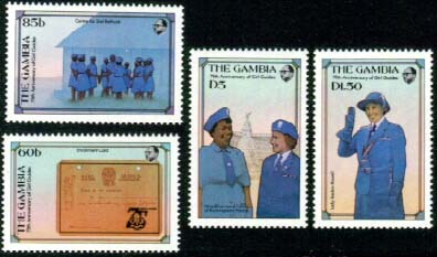 Gambia Guide stamps
